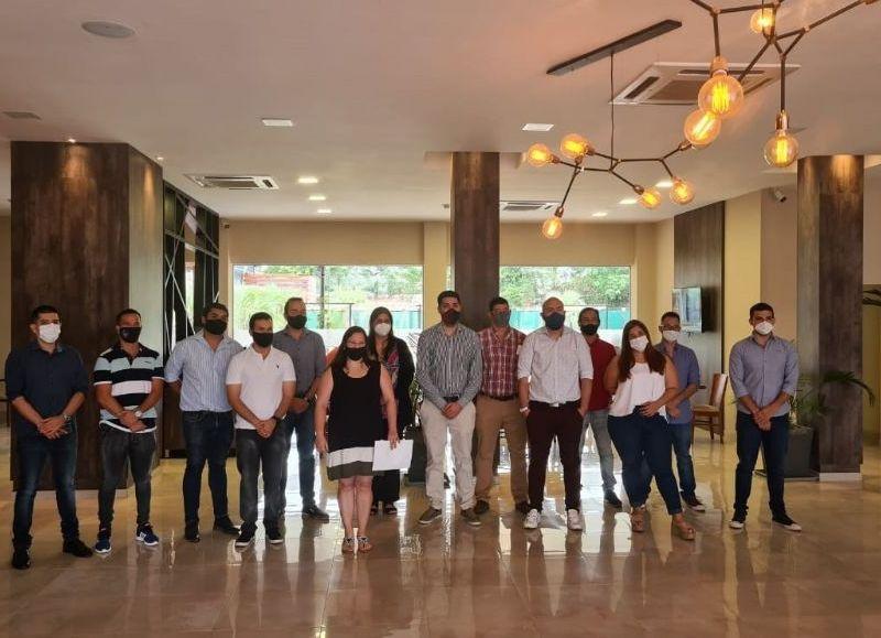 Integrantes de Fechaco Joven reunidos en Charata.