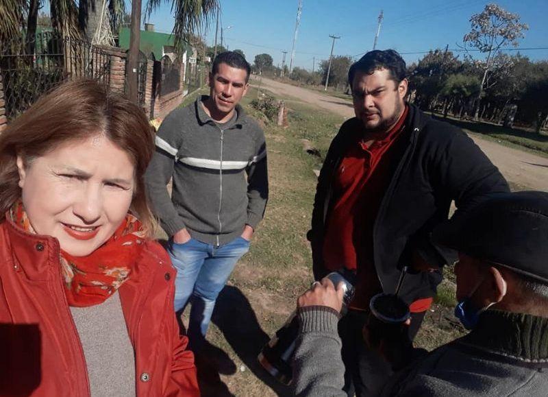Clara Núñez y Joaquín Ríos, acompañan al proyecto político que lleva de cabeza de lista a Atilio Velázquez, que busca ingresar a la Legislatura chaqueña.