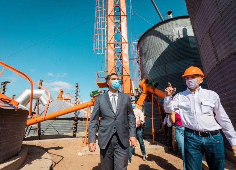 El gobernador Jorge Capitanich visitó en la mañana de este jueves la fábrica Tourne & Tourne, radicada en Gancedo.