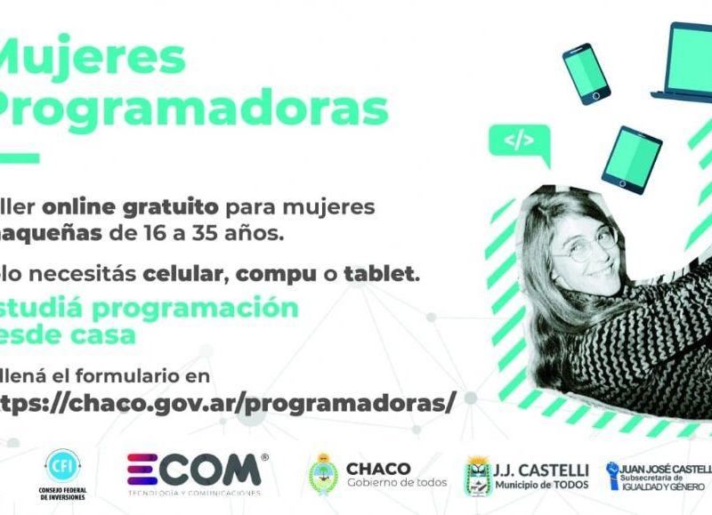 El taller online gratuito está dirigido a mujeres chaqueñas de 16 a 35 años.