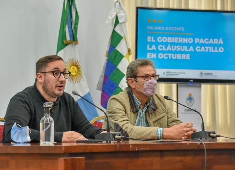 Santiago Pérez Pons, anunció el pago de la cláusula gatillo en octubre, que se suma al incremento del 7% para toda la administración pública que ya había anunciado el gobernador Jorge Capitanich.