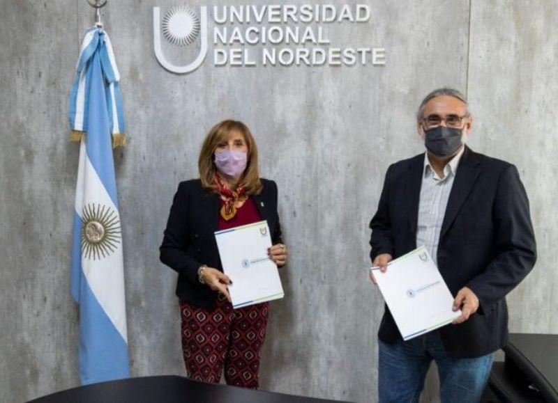 El convenio marco de cooperación permitirá, entre otras cosas, avanzar con proyectos claves para la UNNE, de investigación y desarrollo en zonas del Impenetrable chaqueño y del Iberá, en Corrientes.