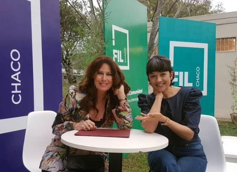Amelia Fernández, conductor de Conversaciones Diversas junto a Luisa Kiliok en la FIL.
