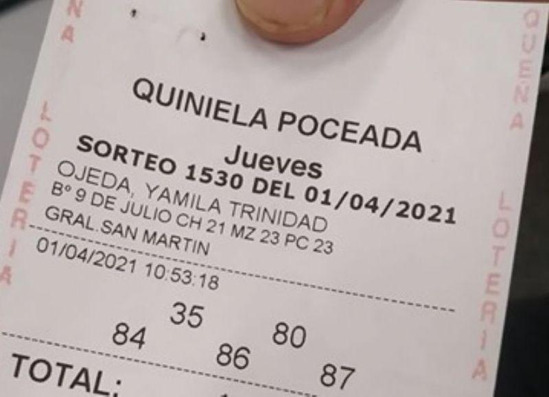 Los números de la suerte fueron el 35, 80, 84, 86 y 87.