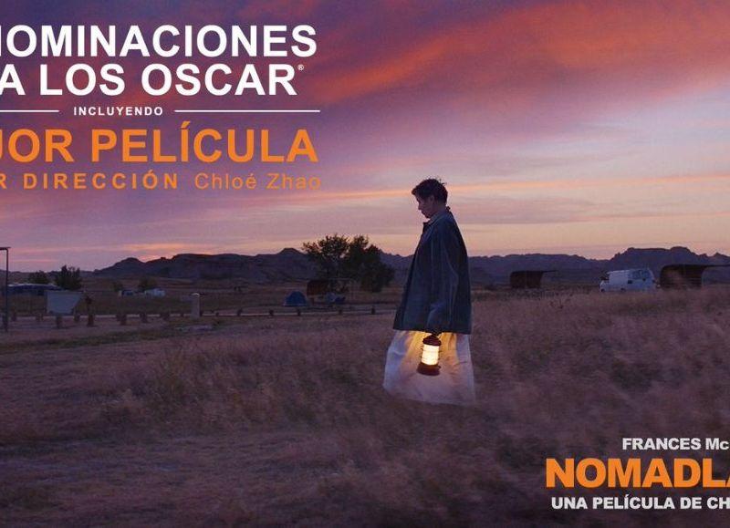 """Nomadland de Chloe Zhao es una de las favoritas a llevarse el premio a la """"Mejor película"""" y """"Mejor director."""