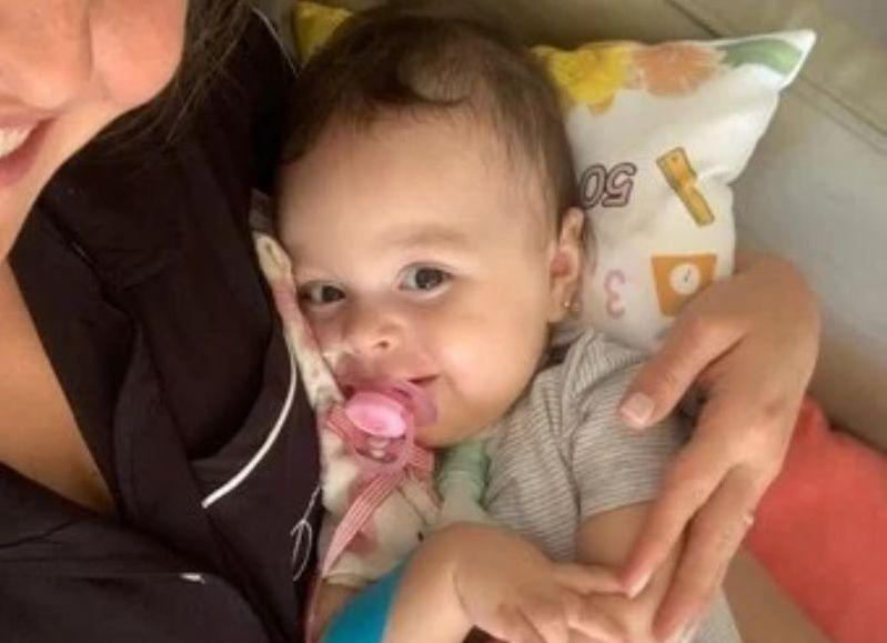 Emmita, con 11 meses, ya tiene el medicamento de US$2.125.000 que puede cambiarle la vida.