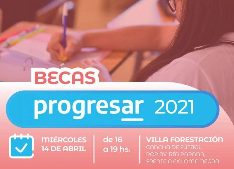 Becas Progresar: inscriben este miércoles 14 en Villa Forestación de Barranqueras