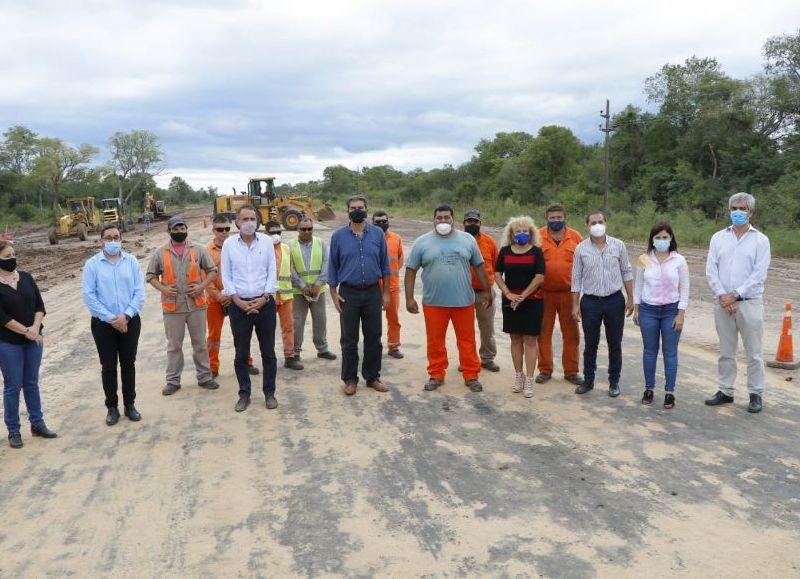 Los funcionarios, junto a intendentes, recorrieron el tramo de casi 39 km que estará finalizado en los próximos días y que sería inaugurado el 29 de abril por el Presidente Alberto Fernández.