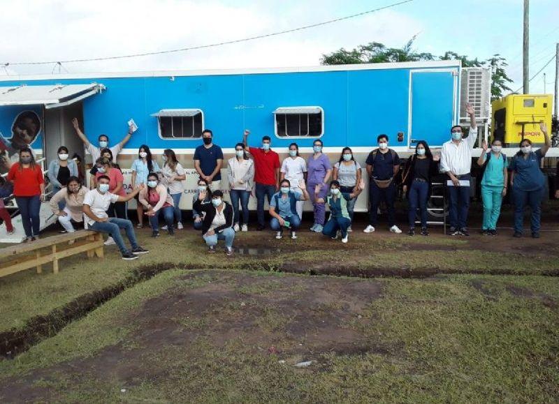El operativo de la Unidad Sanitaria Móvil del Municipio fue en apoyo al programa de relevamiento nutricional de Fundecch Conin.