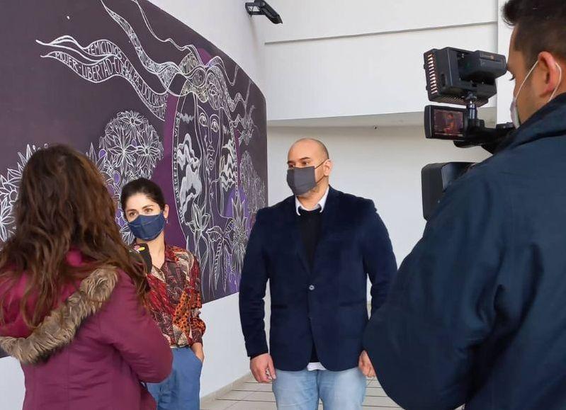 """""""Estamos muy contentos por lanzar esta cuarta edición del Encuentro Provincial de Teatro Joven"""", dijo el vicepresidente del ICCH Alfredo Germinagni."""