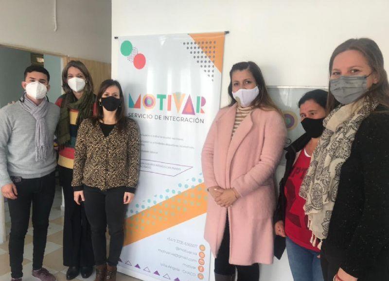 Ayala, Spoljaric y Mancebo visitaron el Centro Motivar, que ofrece servicios a personas con discapacidad.