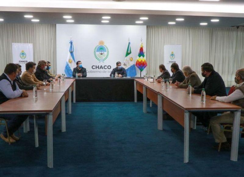 De la reunión participaron representantes de Confederaciones Rurales, Sociedad Rural Argentina, Coninagro y la FAA. Se presentaron propuestas para trabajar en el desarrollo ganadero de la región