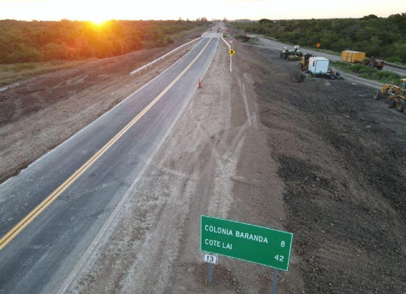 Se trata del tramo de 18 kilómetros, que une la ruta nacional 11 con Colonia Baranda.