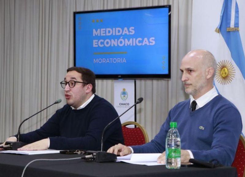 El plan está contemplado en un proyecto de ley remitido a la Legislatura. Incluye quita de intereses y plazos de pagos de hasta 48 y 60 meses. Pérez Pons dio detalles de la moratoria.