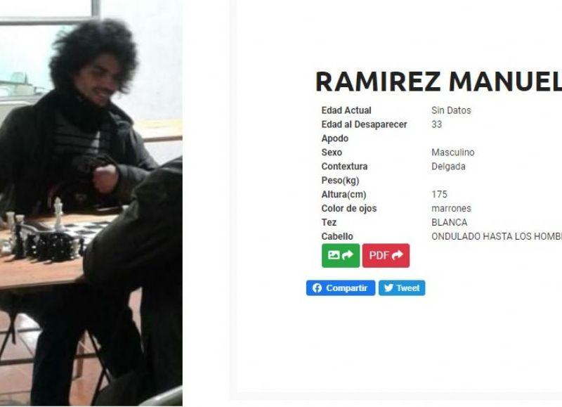 Familiares y amigos colaboran en la búsqueda llevando fotos de Manuel a instituciones de diversas localidades, como así también comparten videos y flyer en diferentes redes sociales para la difusión del caso.