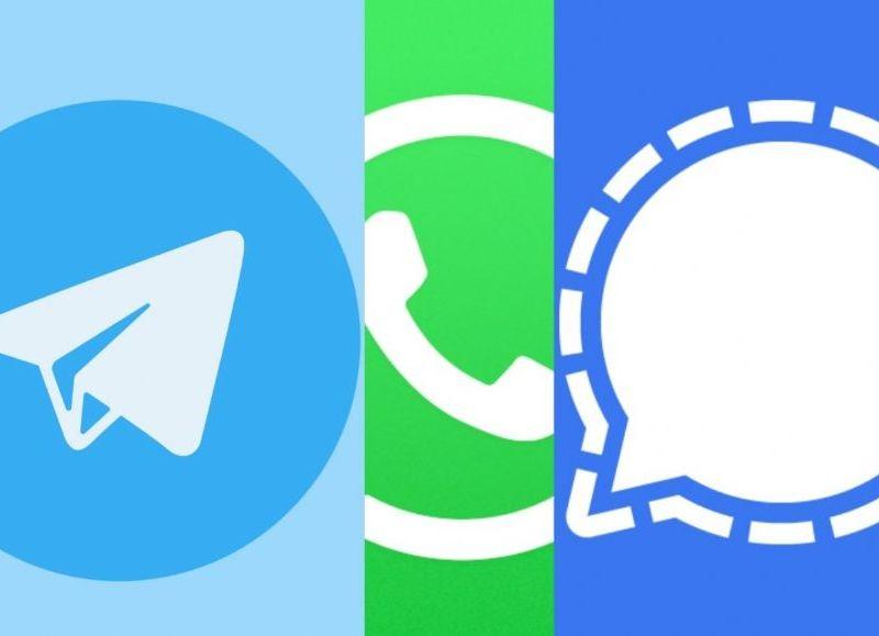 Como resultado de la fuga de usuarios de WhatsApp, se multiplicaron las descargas de ambas plataformas en las tiendas de aplicaciones.