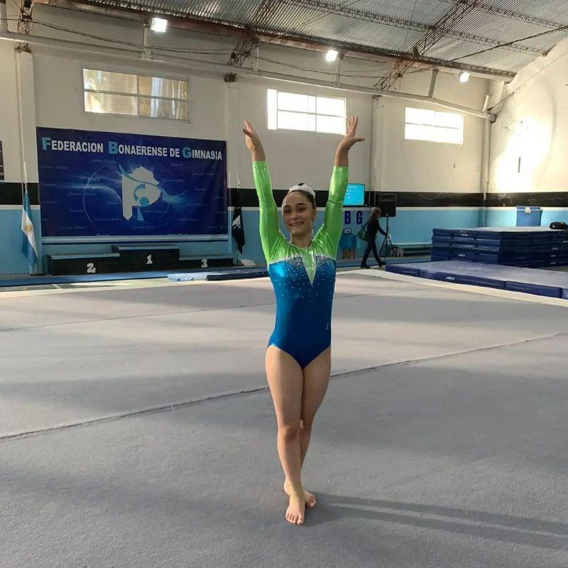 Alexia compitió en el Torneo Nacional de la disciplina y quedó entre las cinco mejores en aparato de salto.