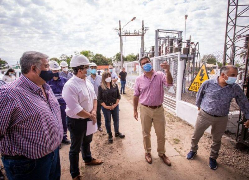 Los trabajos inaugurados por el gobernador, darán más calidad y provisión energética a Las Palmas, General Vedia, Margarita Belén, Isla del Cerrito, Colonia Benítez y zona de influencia.